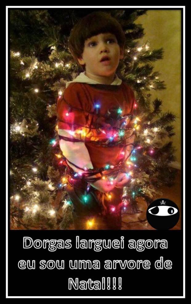 Dorgas larguei agora eu sou uma árvore de natal